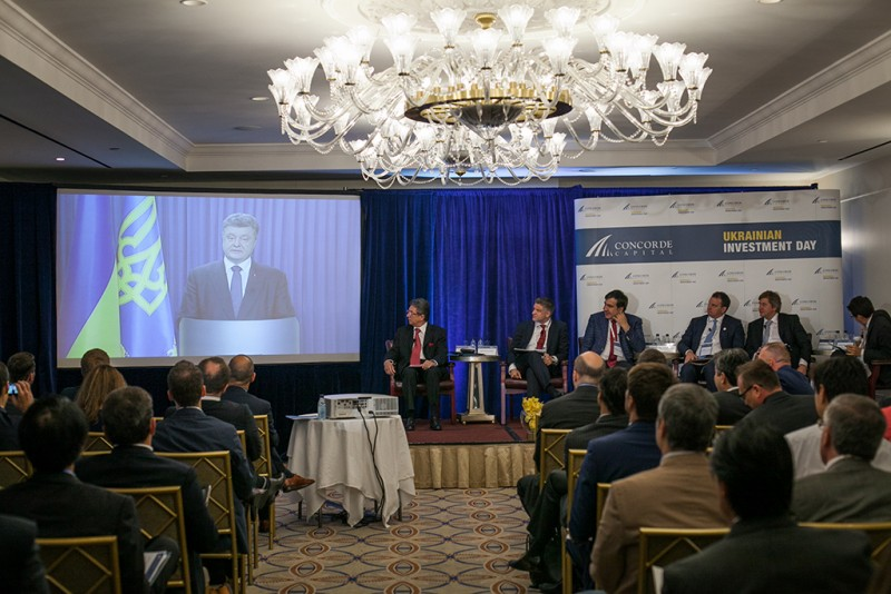 Igor Mazepa, CEO of Concorde Capital, hosted Ukrainian Investment Day in New York. June 2015. Photo