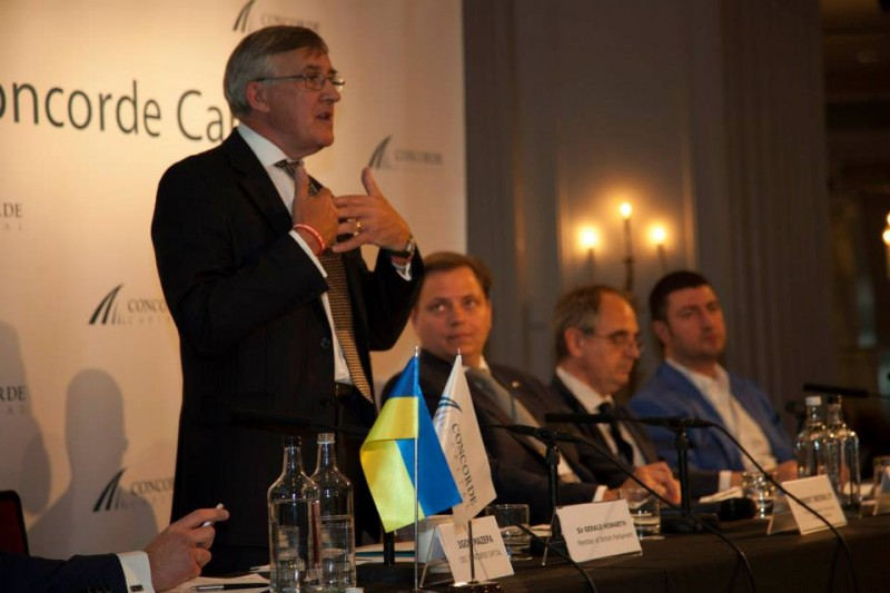 Igor Mazepa, CEO of Concorde Capital, hosted Ukrainian Investment Day in London. July 2014. Photo