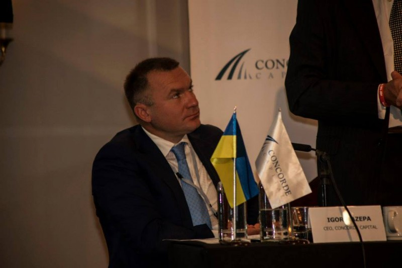 Igor Mazepa, CEO of Concorde Capital, hosted Ukrainian Investment Day in London. July 2014. Photo#2