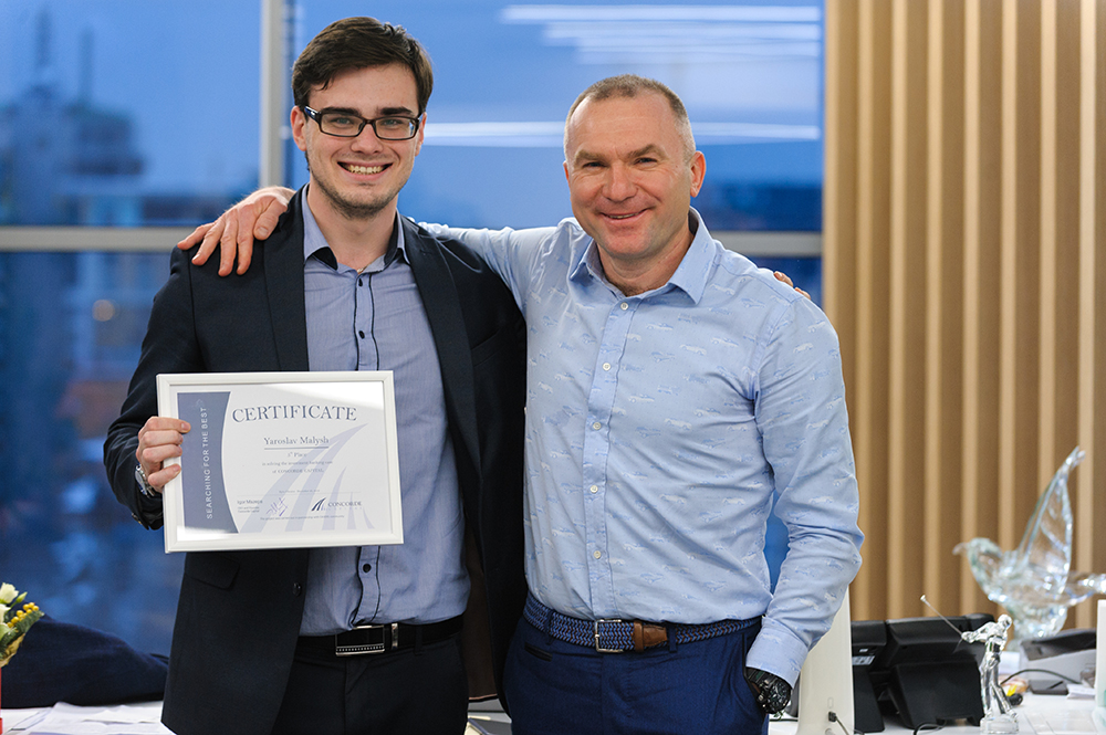 Igor Mazepa rewarded authors of the most successful solutions of Concorde Capital case. #5